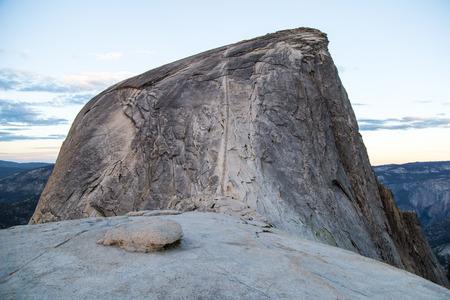 half dome: Half Dome cables Yosemite National Park California Climb Stock Photo