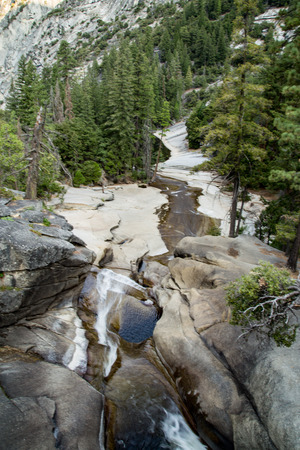 vernal: Misty steps up to Vernal Fall, Yosemite Park, California