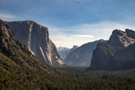 tunnel view: Tunnel View over look Yosemite National Park Stock Photo