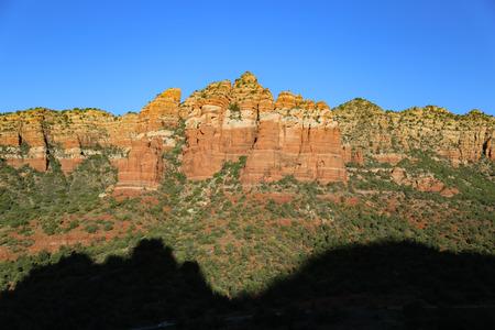 arizona scenery: Beautiful Sunset Scenery of Sedona Arizona national forest