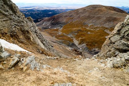 colorado rockies: lincolin camorn bross democrat Colorado 14er in the Rockies Stock Photo