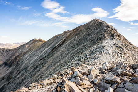 longs peak: Mount Sherman Colorado 14er in the Colorado Rockies Stock Photo