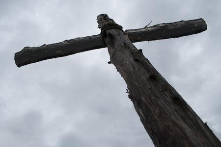 The Old Wooden Cross Archivio Fotografico