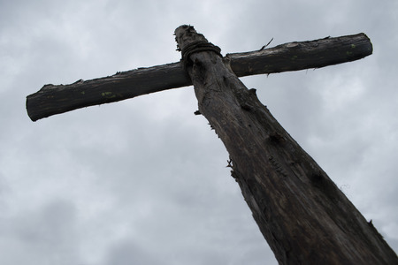 The Old Wooden Cross 版權商用圖片