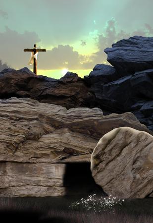 十字架と空の墓