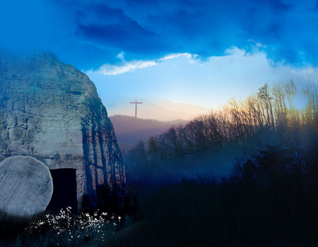 Wschód słońca przy grobie Jezusa