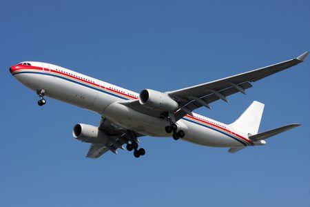 run way: The airplane will landing airport run way with sunny day Stock Photo