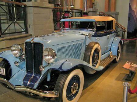 古典的な車ブルー 報道画像