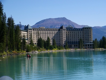 Chateau Lake Louise in fall Editorial