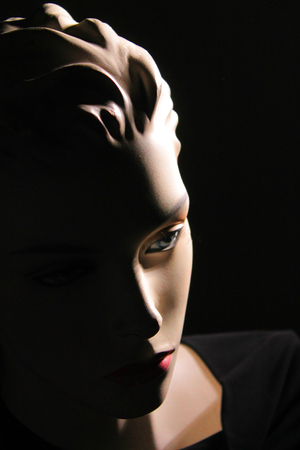 close up on A womans doll - mannequin