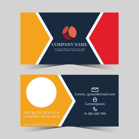 Calling card template for business man with geometric design Illustration