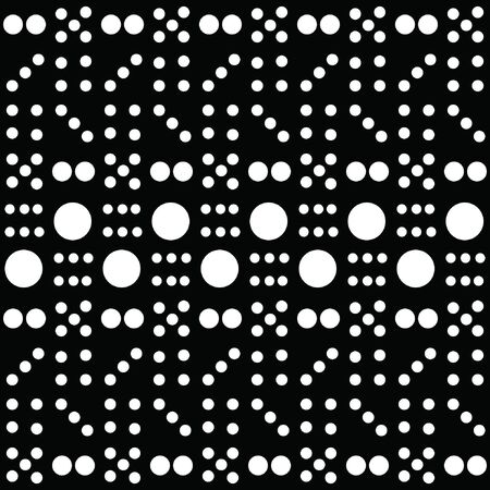 Dot Pattern Background in black and white