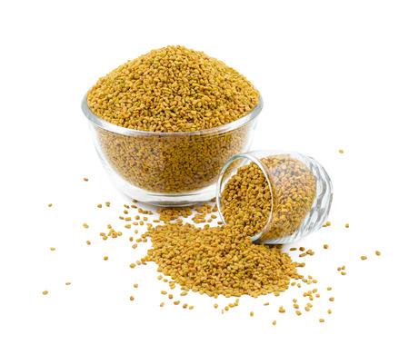 Fenugreek Seeds or Methi Isolated on White Background
