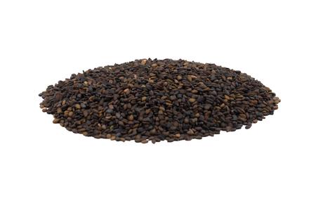Black Sesame Seeds Also Know as Til or Black Til Isolated on White Background