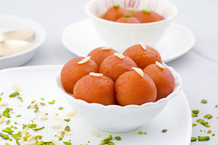 Indian Traditional Special Sweet Food Gulab Jamun Archivio Fotografico