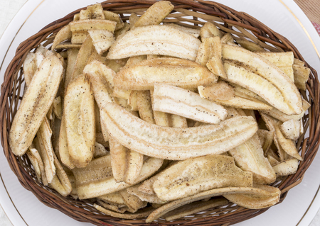 Banana Chips Popular Deep Fried Tea Time Snack Also Know As Most Famous South Indian Snack And Banana chips are commonly found in India and Indonesia.