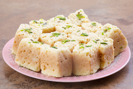 Indian Traditional Famous Sweet Food Mysore Pak or Mysoor Pak Stockfoto