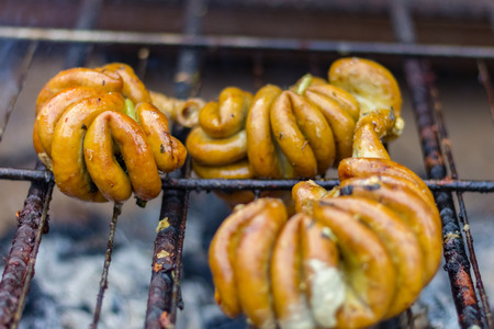 venezuelan food on a barbecue Stock Photo