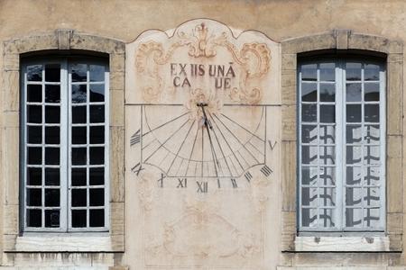 abbeys: Cluny Abbey sundial in Burgundy Stock Photo