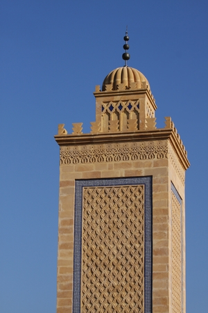 madina: Minaret of the mosque of Saint Etienne France Stock Photo