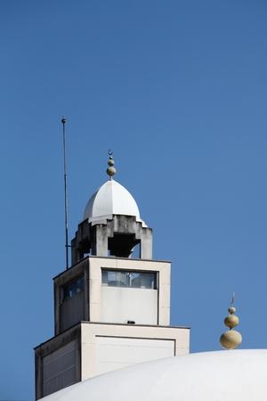madina: Minaret of the mosque of Lyon, France Stock Photo