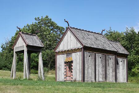 Viking stave church of Moesgaard, Denmark