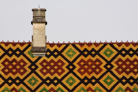 Polychrome roof of the Hospices of Beaune