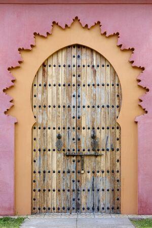 marzahn: Oriental door at Gardens of the world in Berlin Stock Photo