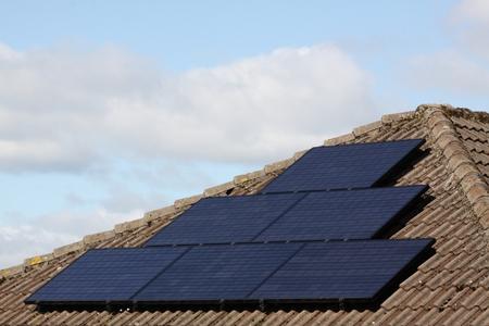 Solar panels on a house Stockfoto