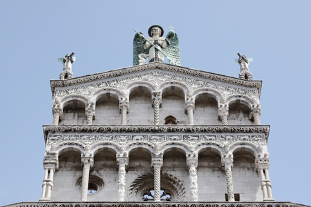 or san michele: San Michele in Foro Church in Lucca, Italy