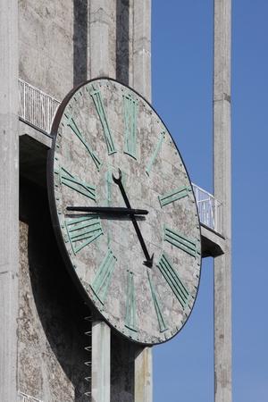 Clock city hall of Aarhus in Denmark