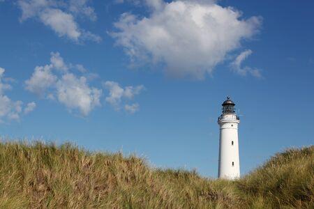 hirtshals: Hirtshals lighthouse in Denmark Stock Photo