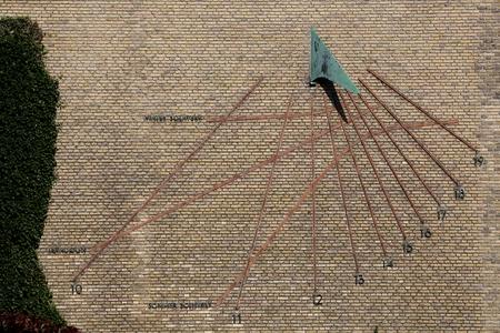 Sundial at Aarhus university,  Denmark