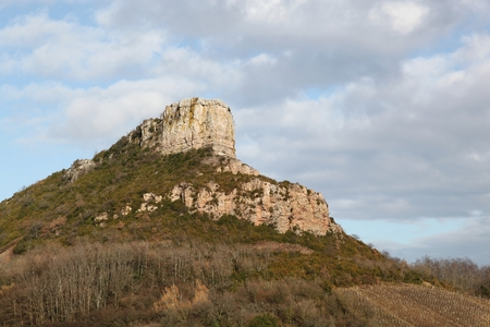 palaeolithic: Rock of Solutre in Burgundy, France Stock Photo