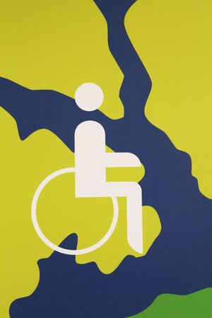 handicapped: Handicapped wheelchair access sign
