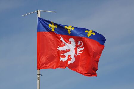 lys: Flag from the city of Lyon, France