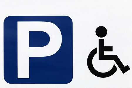 handicapped: Handicapped parking sign