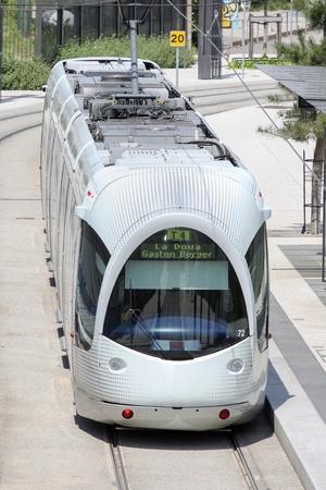 lyon: Tramway in Lyon, France Editorial
