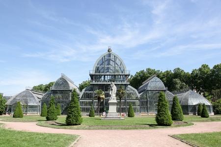 parc: Greenhouse in parc de la tete d-or in Lyon, France Stock Photo