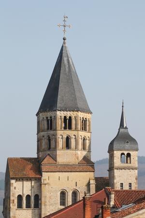 abbeys: The abbey of Cluny in Burgundy