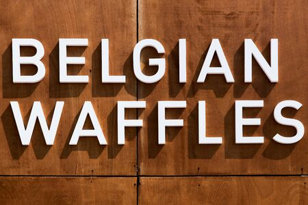made in belgium: Belgian waffles Stock Photo