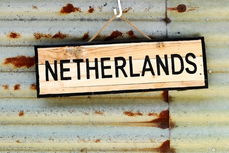 dutch landmark: Netherlands sign on a wall Stock Photo