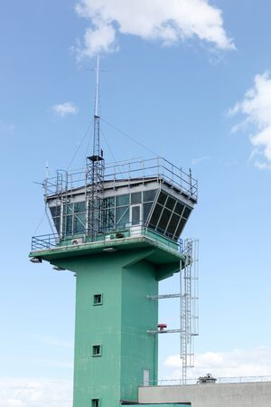 air traffic: Air traffic control in Lyon-Bron airport, France Editorial