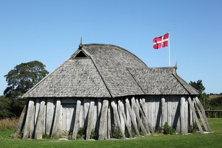viking: Viking house in the city of Hobro, Denmark