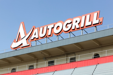 Milano, Italy - July 19, 2015: Autogrill is an Italian-based, multinational catering. Autogrill runs operations in 40 different countries, primarily in Europe and North America, with over 250 licensed and proprietary brands.