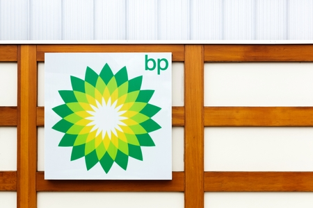 bp: Auxerre, France - September 23, 2015: BP also name British Petroleum, is one of the worlds six biggest oil and gas companies. Its a British multinational company, headquartered in London, England