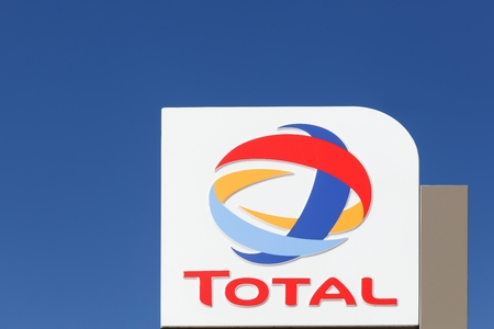 Villefranche, France - September 20, 2015: Total is a french multinational integrated oil and gas company and one of the six supermajor oil companies in the world