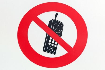 phone ban: No telephone sign