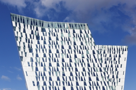 congress center: Copenhagen, Denmark - October 11, 2015: The Bella Sky Marriot Hotel is a 4-star conference hotel adjacent to the Bella Convention and Congress Center in the Orestad district of Copenhagen, Denmark. Editorial