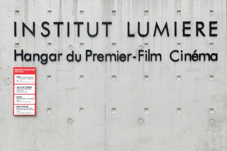 Lyon, France - September 22, 2015: The Institut Lumiere is a french organisation, based in Lyon, for the promotion, preservation of aspects of french film making and where was made the first movie.
